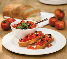 Брускети с домати и маслини