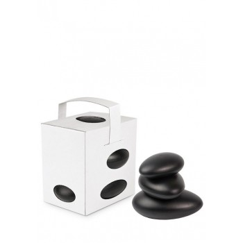 "Comatec Take Away - White ""Galet"" lunch box + black galets, кутия с 100 броя кутии за обяд"