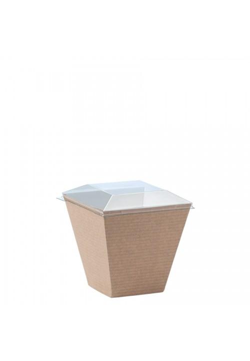 """Take Away"" - Natural cardboard cup ""Natural Kova"" 220ml, кутия с 400 броя съдчета"