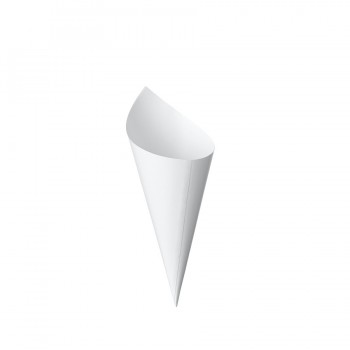 Comatec Cocktail Line - White cone medium 130mm, кутия с 100 броя фунийки