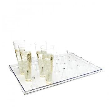 """Comatec Display - """"Lux by starck Atlas"""" crystal tray, кутия с 20 броя подноси"""