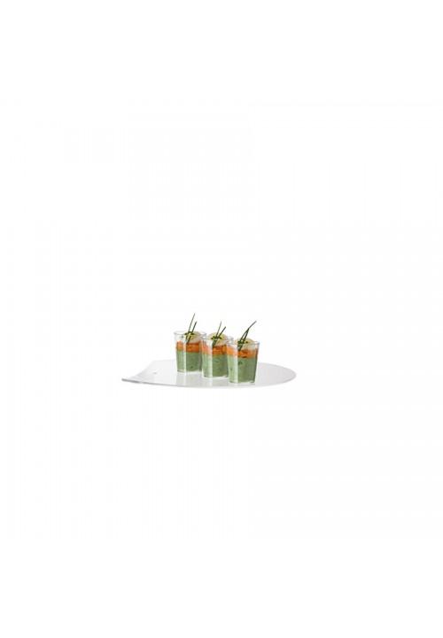 Comatec Display - Plain round palett tray, кутия с 1 брой поднос