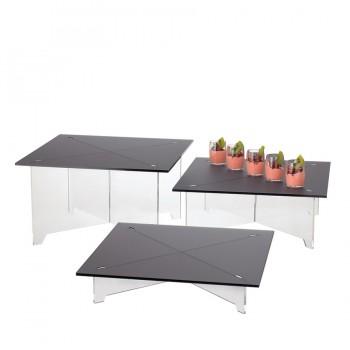 Comatec Display - Square nest of 3 tables, кутия с 1 к-кт от 3 квадратни масички