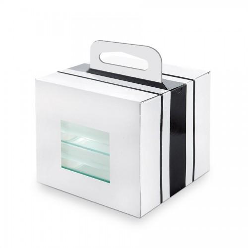 "Comatec Take Away - Black & White ""Bento lunch"", кутия с 100 броя кутии за храна"