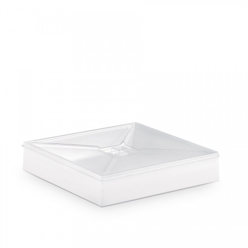 "Comatec Take Away - Crystal ""Bento"" flat lid, кутия с 100 броя плоски капаци"