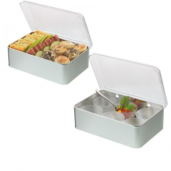 "Comatec Take Away - ""Bento alu + lid"", кутия с 10 броя метални кутии + капак"