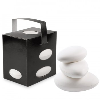 "Comatec Take Away - Black ""Galet"" lunch box + white bio galets, кутия с 100 броя кутии за обяд"
