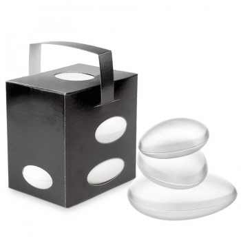"""Comatec Take Away - Black """"Galet"""" lunch box + frosted crystal galets, кутия с 100 броя кутии за обяд"""
