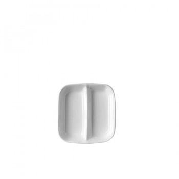 """""""Jade"""" - Square compartmend dish 8 cm, квадратна чинийка с разделител"""