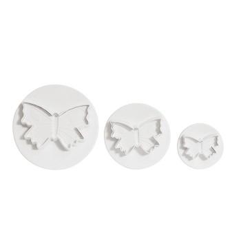 """""""Pastry tools"""" - Butterfly cutter 3 pcs set, кутия с 2 к-кта резци - пеперуди"""