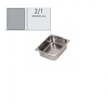 """""""GN food pans""""- GN 2/1 retractable handles 65x53x10cm, кутия с 1 брой тава с прибиращи се дръжки"""